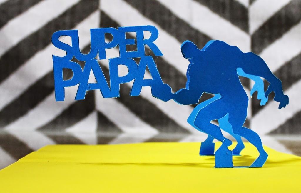 Super Papa Tarjeta Pop Up Dia Del Padre Jeguridos