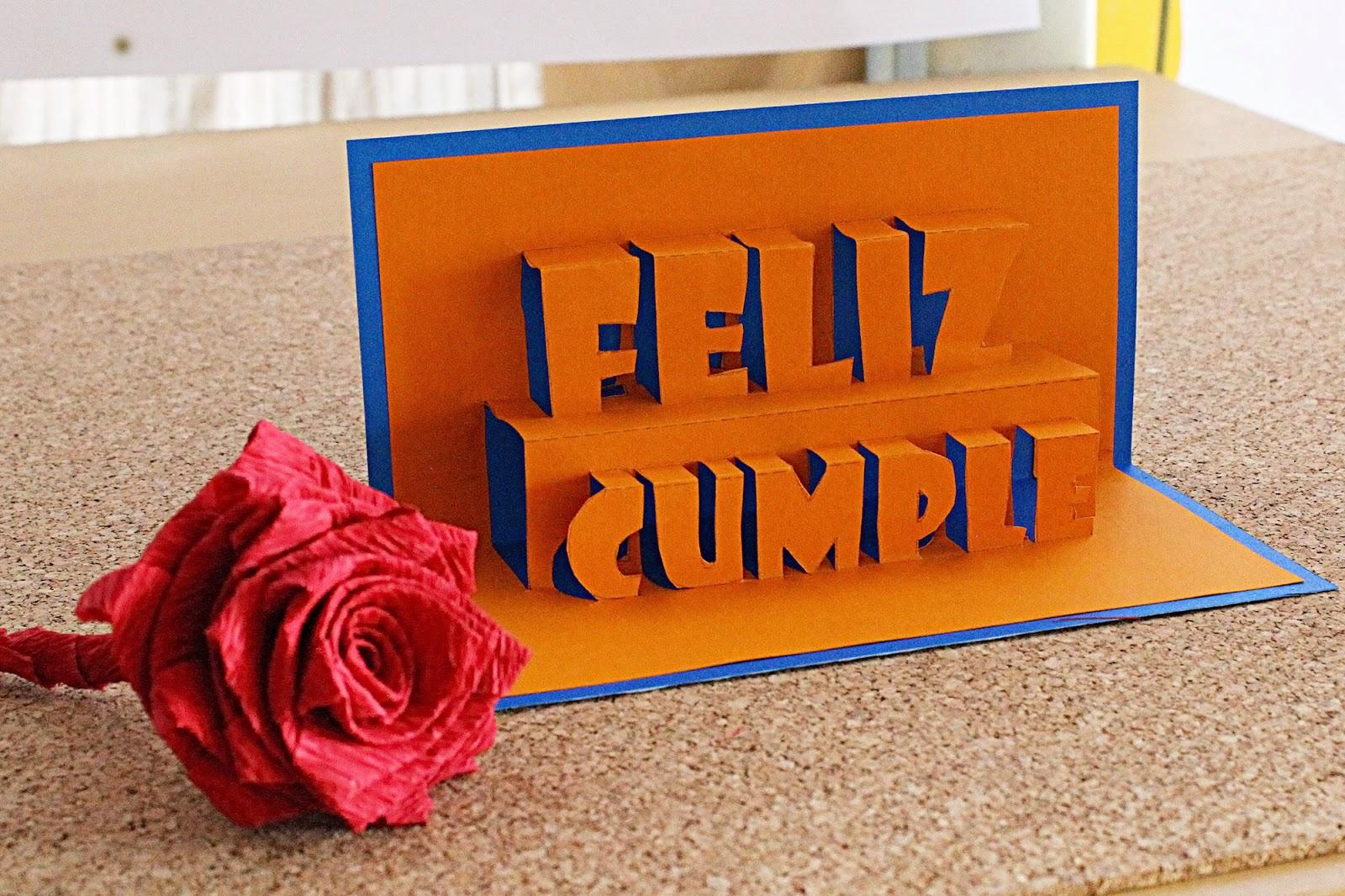Tarjeta feliz cumple // happy Birthday Tarjeta Pop-Up – Remake ...